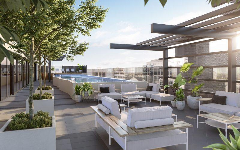 NV Apartments Perth - Rooftop CG Render by Constructive Media